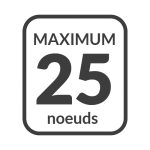 Dans les limites du parc marin vitesse maximale de 25 noeuds